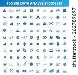 big data data analysis icon set ...
