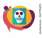 x ray flat icon with long... | Shutterstock .eps vector #262795655