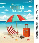 summer beach holiday vector... | Shutterstock .eps vector #262799795