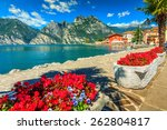 high mountains and walkway on... | Shutterstock . vector #262804817