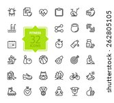 outline web icon set   sport... | Shutterstock .eps vector #262805105