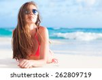 picture of long haired woman in ...   Shutterstock . vector #262809719