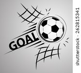 soccer ball through the net | Shutterstock .eps vector #262815341