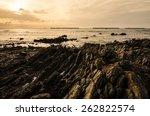rock and sea morning  light in... | Shutterstock . vector #262822574