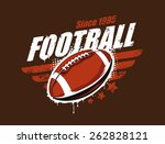 grunge football print. retro... | Shutterstock .eps vector #262828121