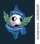 grunge illustration of soccer... | Shutterstock .eps vector #262828169