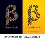 beta  luxury font  designed... | Shutterstock .eps vector #262830875