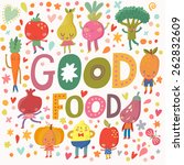 lovely good food concept card... | Shutterstock .eps vector #262832609