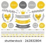 a set of trendy blog design...