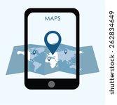 location maps concept internet ... | Shutterstock .eps vector #262834649