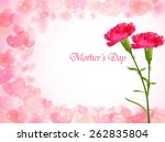 carnation mother's day... | Shutterstock .eps vector #262835804