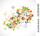 abstract colorful and creative... | Shutterstock .eps vector #262836485