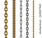 set of chains made of different ... | Shutterstock .eps vector #262837565