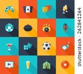 entertaining icons flat set... | Shutterstock .eps vector #262841264