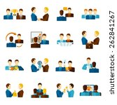 business partnership teamwork... | Shutterstock .eps vector #262841267