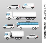 realistic transport icons set... | Shutterstock .eps vector #262841474