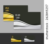 golden and silver membership... | Shutterstock .eps vector #262845257