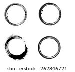 coffee stain ring vector  shape ... | Shutterstock .eps vector #262846721