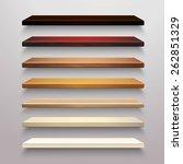 realistic 3d multicolored... | Shutterstock .eps vector #262851329