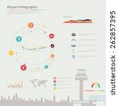 airport infographics. vector... | Shutterstock .eps vector #262857395
