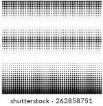 halftone borders | Shutterstock .eps vector #262858751