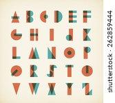 vintage alphabet typography... | Shutterstock .eps vector #262859444