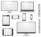 vector modern electronic devices | Shutterstock .eps vector #262862555