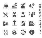 travel and airport icon set 2 ... | Shutterstock .eps vector #262862984