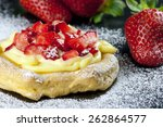 zeppole with strawberry ... | Shutterstock . vector #262864577