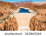 Famous Hoover Dam At Lake Mead...