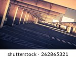 Top Level Public Parking. Empty Parking Space. Urban Architecture Theme. Las Vegas, Nevada, United States. - stock photo