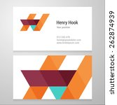 modern letter h business card... | Shutterstock .eps vector #262874939