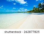 beautiful tropical sea | Shutterstock . vector #262877825