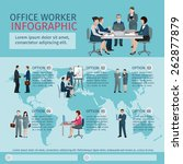 office worker infographics set... | Shutterstock .eps vector #262877879