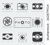 photography icon set.... | Shutterstock .eps vector #262879514