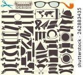 black and white ribbons... | Shutterstock .eps vector #262883435