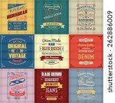 original authentic denim jeans... | Shutterstock .eps vector #262886009