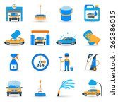 automatic carwash facilities... | Shutterstock .eps vector #262886015