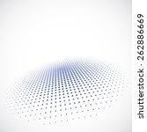 halftone dots | Shutterstock .eps vector #262886669