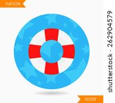 lifebuoy flat icon with long... | Shutterstock .eps vector #262904579