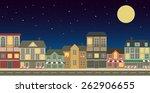 night city. vector illustration | Shutterstock .eps vector #262906655