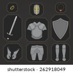 game inventory. knight armor...