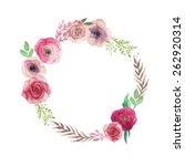 watercolor vintage flowers... | Shutterstock .eps vector #262920314