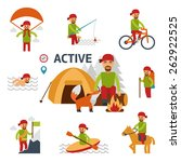 active infographic elements.... | Shutterstock .eps vector #262922525