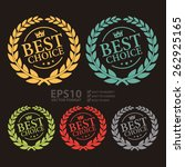 vector best choice wheat laurel ... | Shutterstock .eps vector #262925165