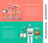Постер, плакат: Laboratory workspace and science