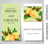 wedding invitation cards with... | Shutterstock .eps vector #262946411
