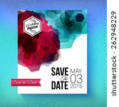 artistic romantic save the date ... | Shutterstock .eps vector #262948229