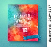 dynamic vibrant save the date... | Shutterstock .eps vector #262948367
