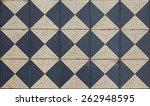 Ancient Mosaic Floor  Checkere...